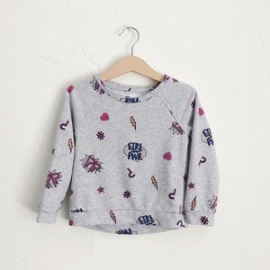 Epic Threads Printed Girl Power Long Sleeve Shirt